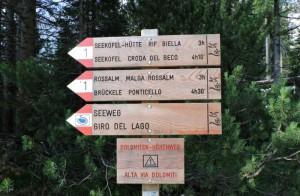 Partenza Sentiero Alta Via N.1